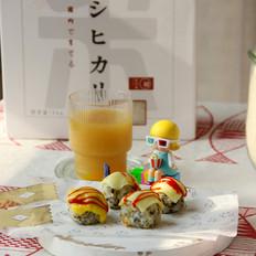 海苔肉松芝士饭团