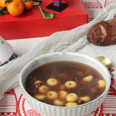红薯圈圈红豆汤的做法