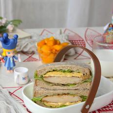 芝士鸡胸肉全麦三明治的做法