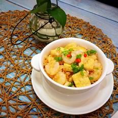 茄汁虾仁豆腐焖饭