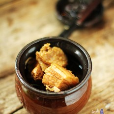 砂锅炖鸡块五花肉