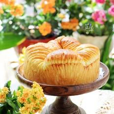 蜜红豆毛线球面包
