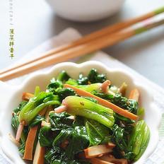 菠菜拌香干