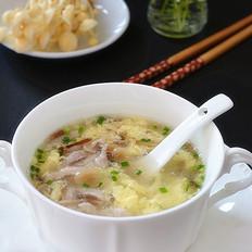 金针菇鸡蛋肉丝汤