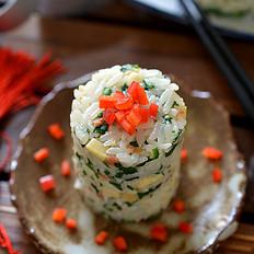 荠菜冬笋饭