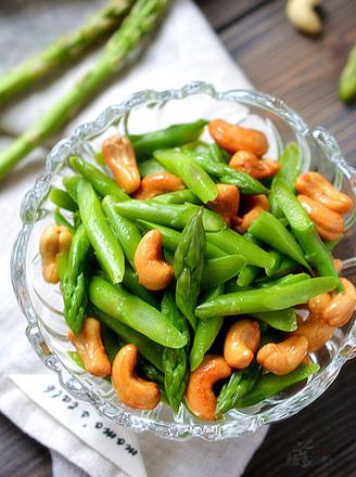 芦笋拌腰果的做法