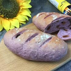 好吃有嚼劲的紫薯软欧