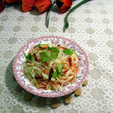白菜拌粉丝胡萝卜