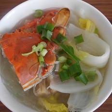 螃蟹娃娃菜煲的做法