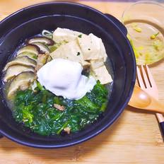 菠菜豆腐汤面