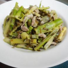 小笋炒肉丝咸菜