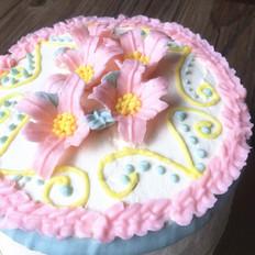 百合花蛋糕
