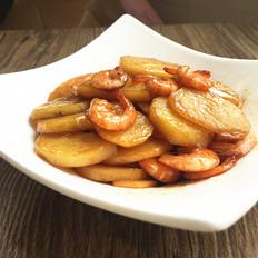 土豆爱上基围虾