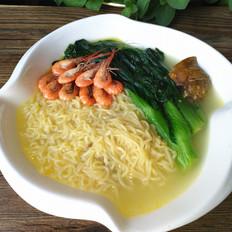 河虾鸡汤方便面