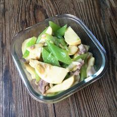 茨菇莴笋炒肉片