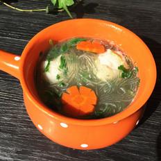 荠菜鱼丸粉丝汤