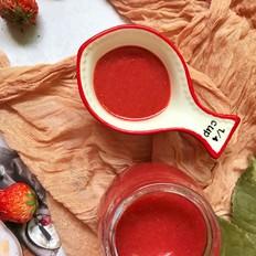 草莓油醋汁的做法