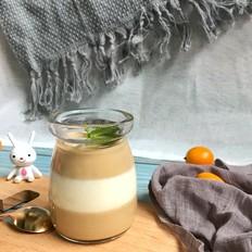 双色咖啡奶冻