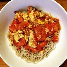 西红柿鸡蛋荞麦拌面