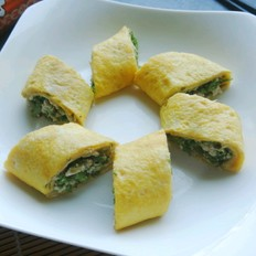 香椿豆腐鸡蛋卷