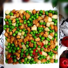 鸡脯肉烩马蹄豌豆