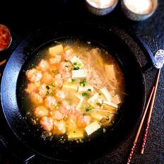 虾滑豆腐鸡汤
