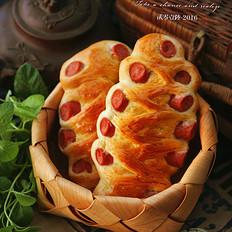 用速度与激情快速做出简单美味的火腿肠面包