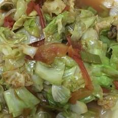西红柿炒卷心菜