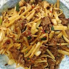酸笋炒牛肉