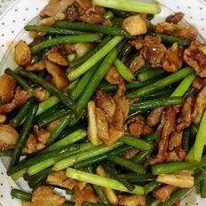 蒜苔炒五花肉