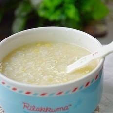 小米玉米片粥的做法