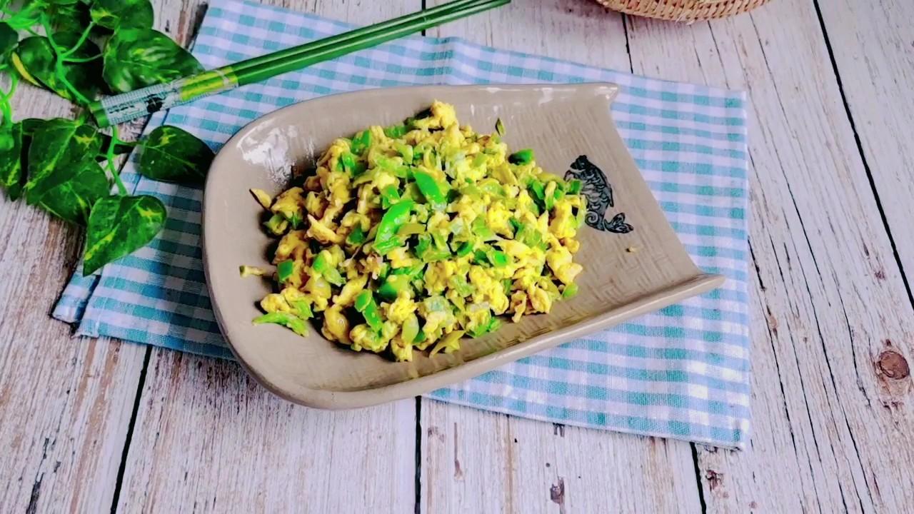 最简单的家常菜,百吃不厌…青椒炒鸡蛋