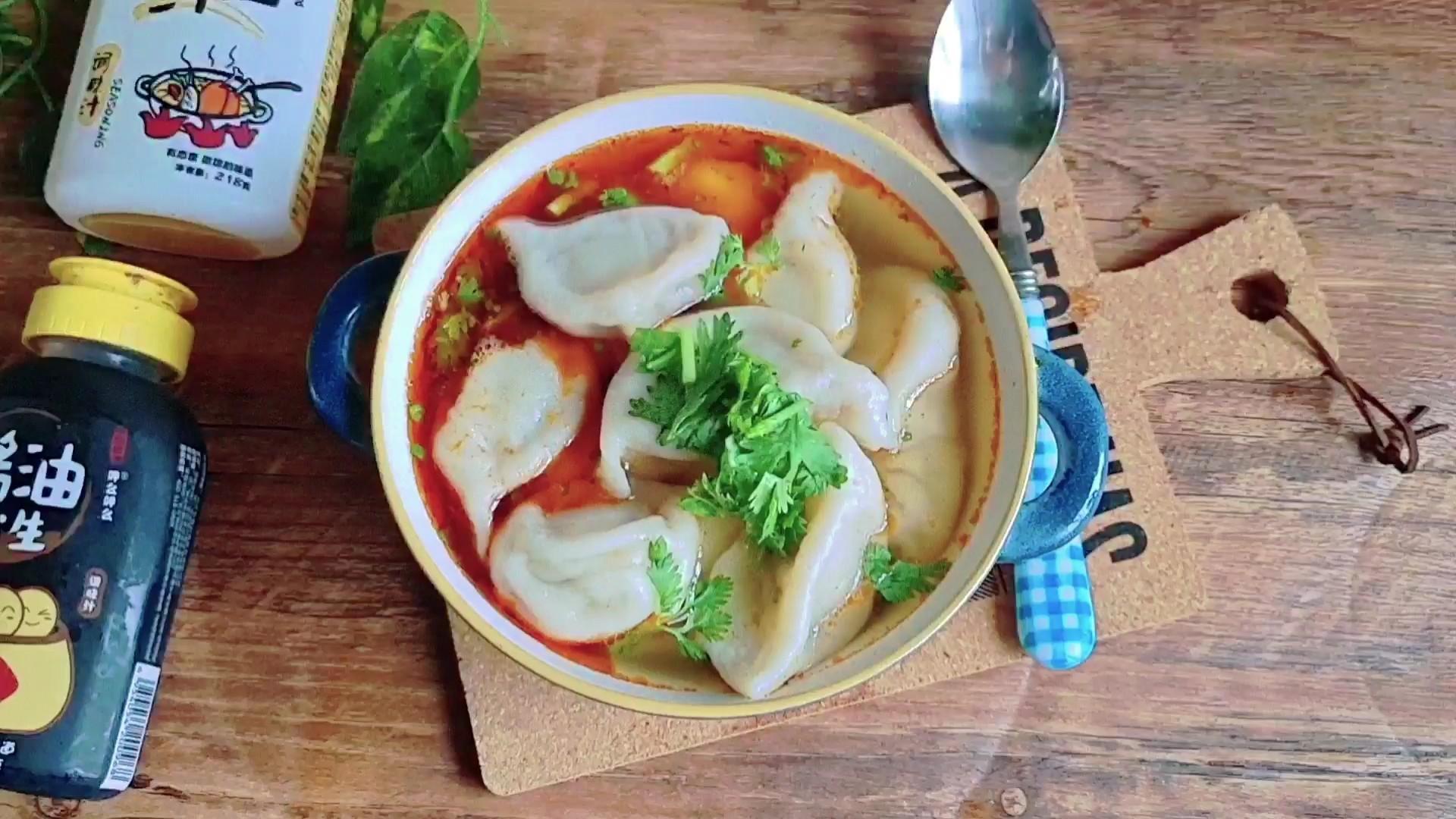 #冬至大如年#冬至吃饺子,快手餐…酸汤水饺