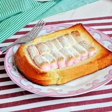 棉花糖香蕉烤土司