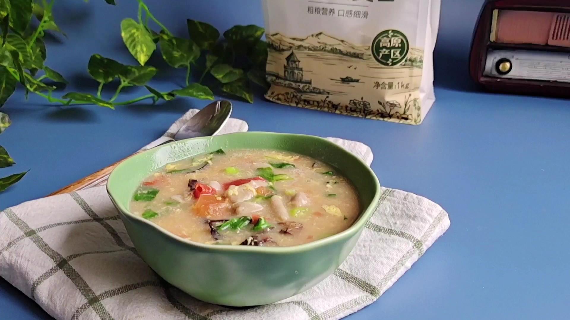最美家常饭,怎么都吃不够~莜麦面疙瘩汤的做法