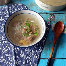 牛肉滑萝卜丝汤