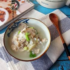 蘑菇肉末粥