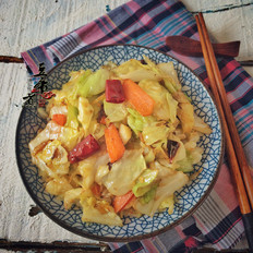 包菜煸虾米