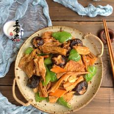 腐竹煸香菇
