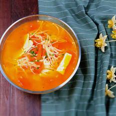 开胃的番茄豆腐汤