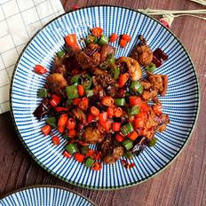 鲜椒辣子鸡,小美的美食
