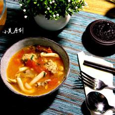 开胃番茄菌菇汤,小美的美食