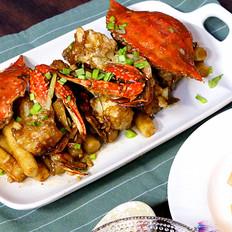 鲜香年糕梭子蟹,小美的美食