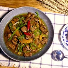 下饭菜泡椒鸡心,小美的美食