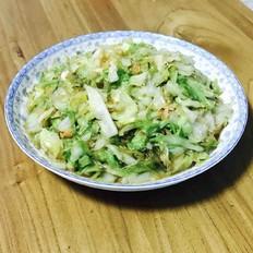 海米粉丝圆白菜