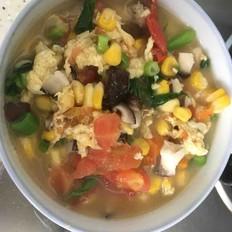 西红柿玉米汤