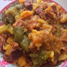 青椒土豆炖牛肉