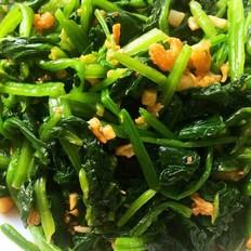 蒜香海米拌菠菜