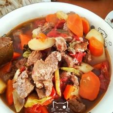 无油西红柿炖牛肉