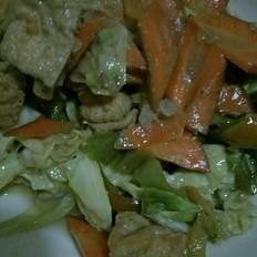 橄榄菜炒豆腐泡